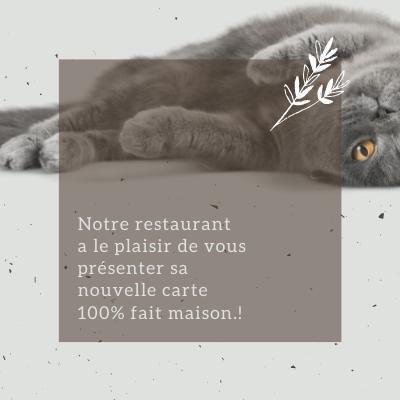Carte du restaurant mia house au Mans